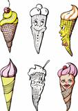 Set of ice creams