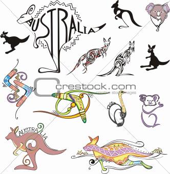Australia Travel Logos