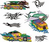 Monsters and racing cars