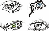 Stylized ornamental eyes