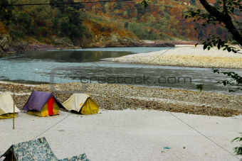 Camps on the riverside