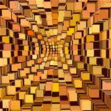 abstract cube pattern mixed orange yellow backdrop 