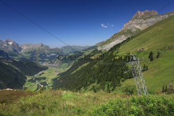 Looking down at Engelberg from Fuerenalp