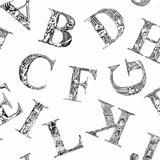Seamless pattern font