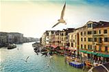 Grand canal, view from Rialto bridge, Venice