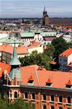 Krakow, Poland - July 14: The city views from the tower