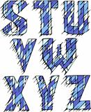 Set of initial letters STUVWXYZ