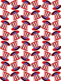 Seamless background with american symbols