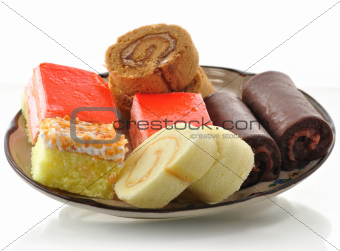 cakes in a plate