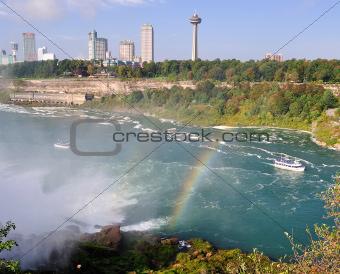 rainbow over the niagara river