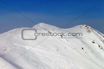 Ski slope, off-piste