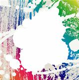 Abstract blots coloful creative background.