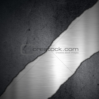Grunge concrete and brushed metal background