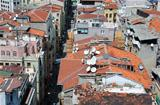Damaged Tiled Roofs of Istanbul