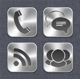 Brushed metal app icon templates