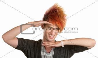 Punk Teen Hand Gesture
