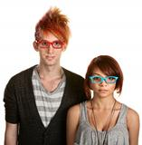 Teen Couple with Glasses