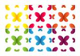Set of seamless patterns with butterflies