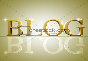 Blog text concept