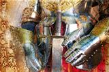 Medieval armor background