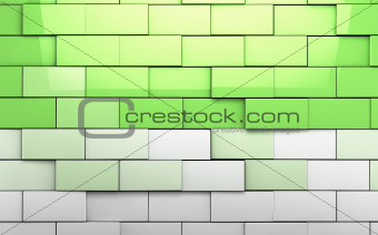 Brick wall cubes background