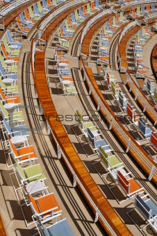 Chairs on a Cruise Ship