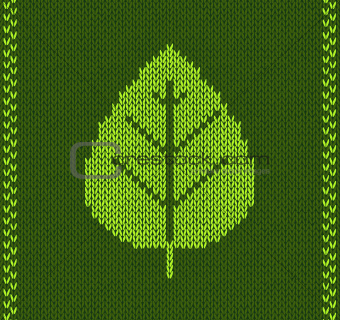 Green Leaf Style Knitted Pattern