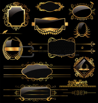 Elegant Gold And Black Labels