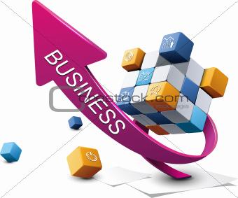 Three dimensional Business Graph