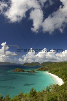 Bright Caribbean Beach Overlook Virgin Islands
