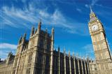 Westminster Palace and Big Ben London Blue Sky Horizontal