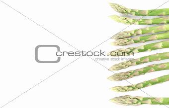 Green asparagus border