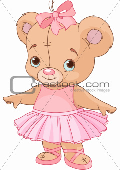 Cute Teddy Bear Ballerina