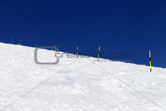 Ski trail on winter resort