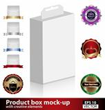 Product box mock-up with creative elements