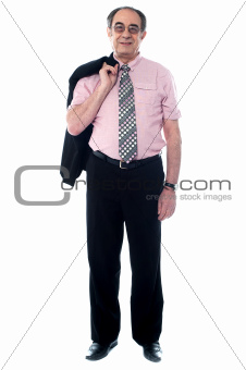 Full length view of business professional standing