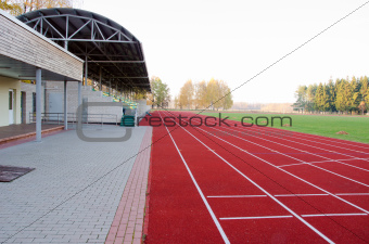 Athletics stadium running tracks football pitch