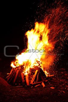 big campfire