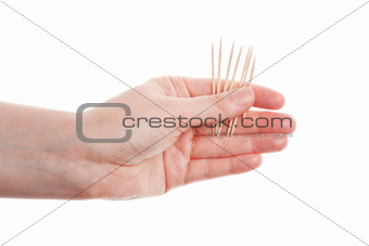 Toothpicks in hand