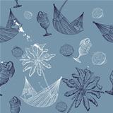 sea  journey seamless pattern.
