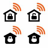 Home Wi-Fi vector signs