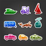 Set labels color transport icons