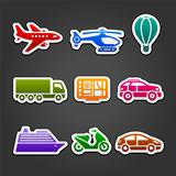 Set stickers color transport