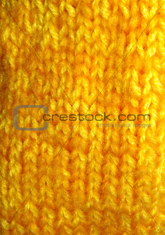 bright yellow texture of knitted fabric