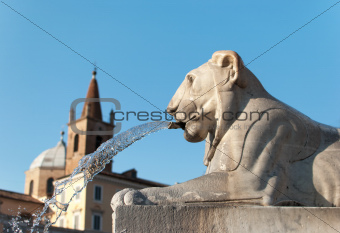 Statue of a Lion in Rome