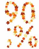 Autumn maples leaves letter