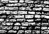 Grunge white and black brick wall background
