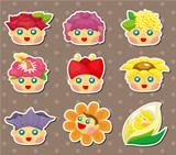 cartoon flower fairy stickers