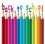 vector colorful pencils. back to school