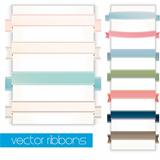 Retro ribbons banners and labels set. Vintage collection.